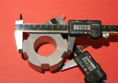 "Zero taper 1"" Thick Aluminum Part Cut By Waterjet ""Dynamic"" Head"