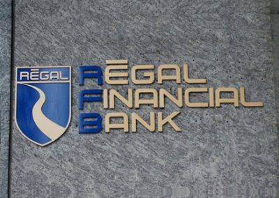 Aluminum Letters for Bank Signage