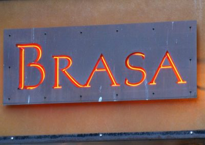 Restaurant Signage Cut out of Mild Steel