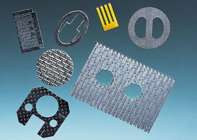 Parts Cut Out of Aerospace Materials