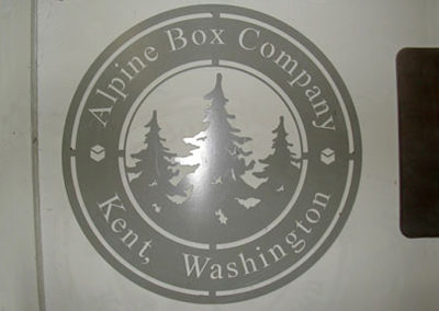 Alpine Box Sign